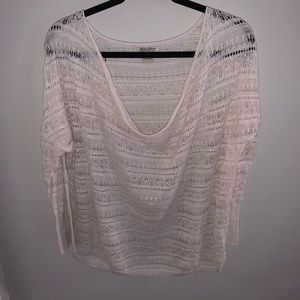 Lucky Brand Scoop Neck Woven Top